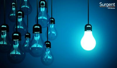 lightbulb for taxes